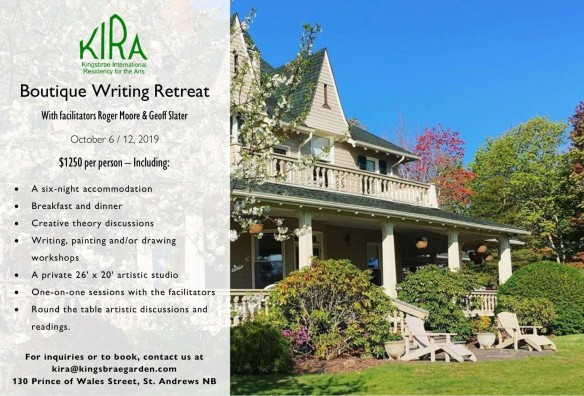KIRA Boutique Writing Retreat Advertisement